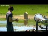 Ударная акустическая волна из пушки. Эксперимент канала BBC.