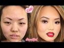 До и после. Азиатский макияж. Чудеса Макияжа. Школа Гоар Аветисян. Нереальное пер...