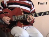 Deep swing jazz guitar solo