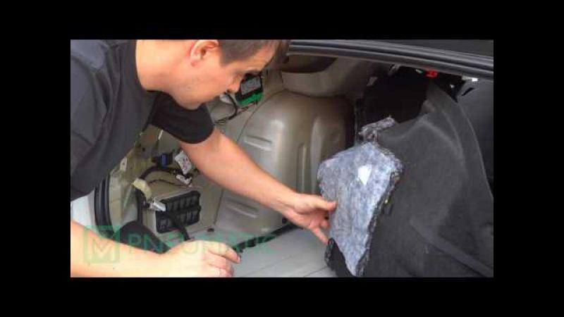 Установка амортизаторов (упоров) багажника Citroen C4 sedan (арт. AB-CE-C400-01) от upory.ru