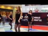 Видео #4 100 девушек станцевали в ТЦ Ауре перед жюри конкурса Мисс Европа плюс