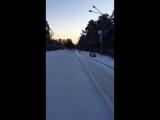 горка в Гагарин парк утром 21.01.17