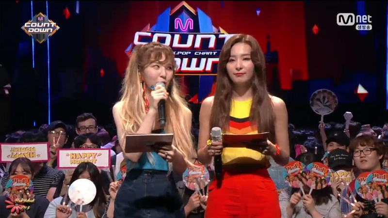 170720 Seulgi Wendy - Special MC pt.1 @ Mnet M!Countdown