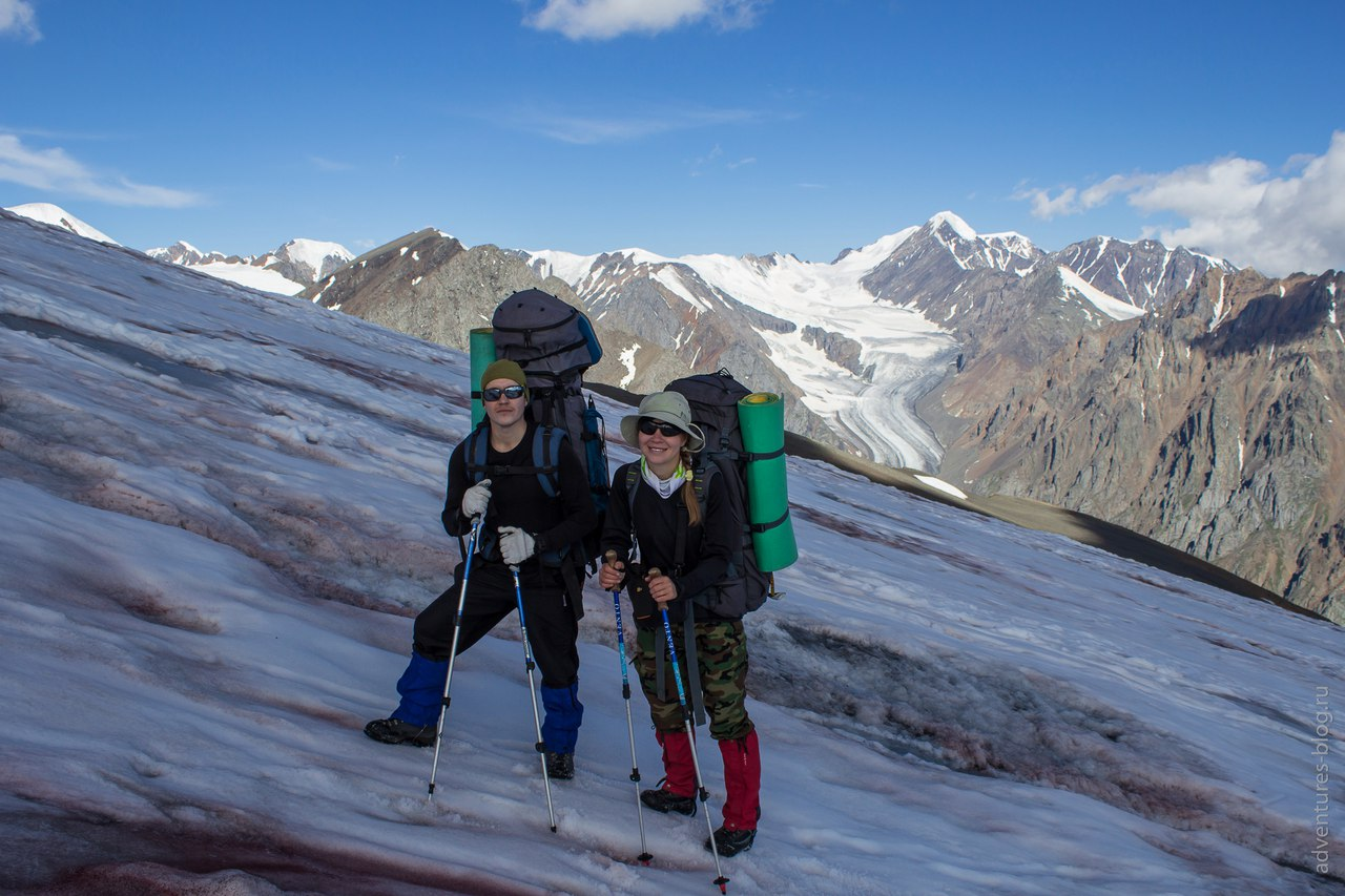 Подъем по леднику на Купол