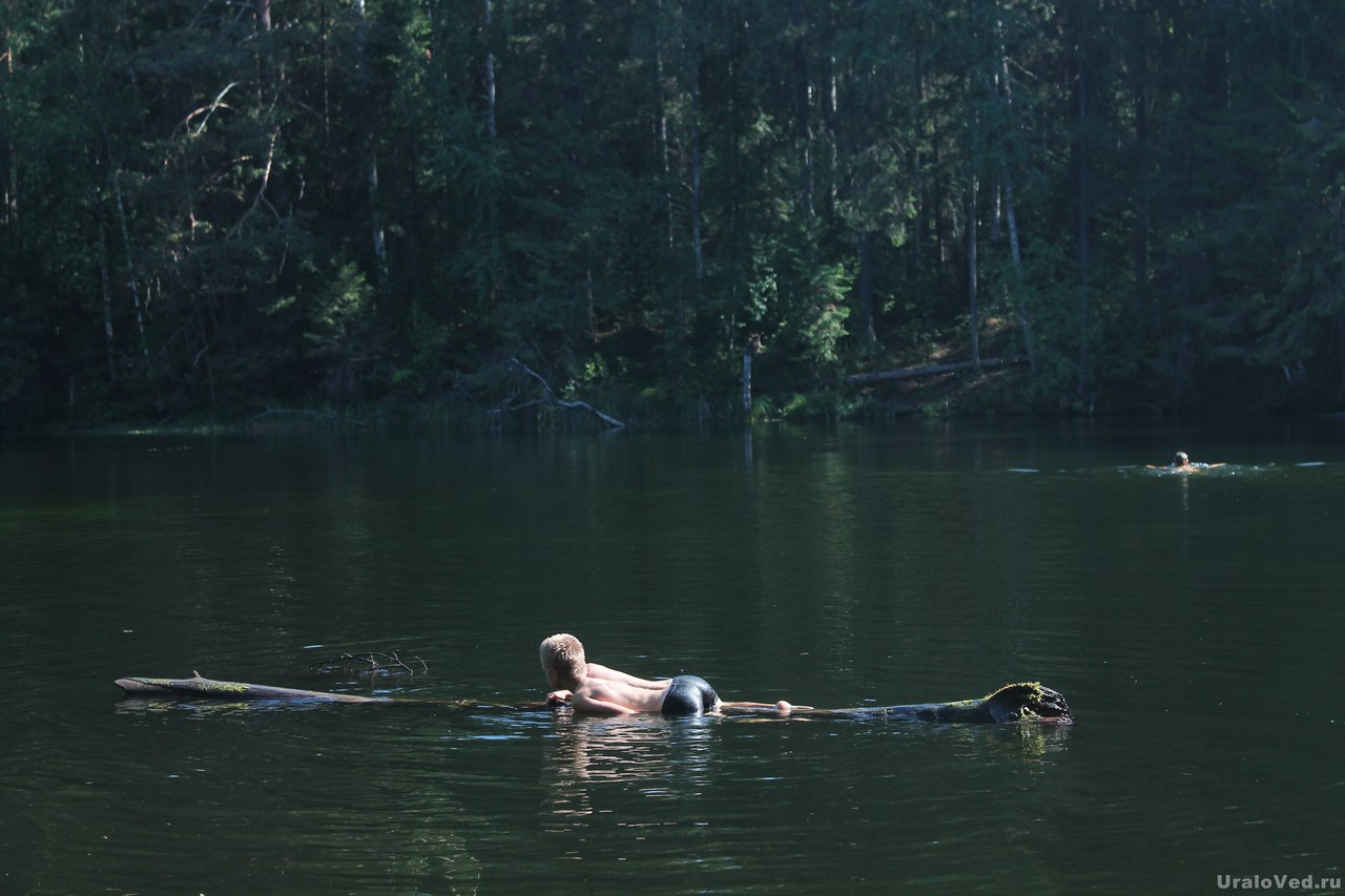 Купание на Шадровских озерах под Кузино
