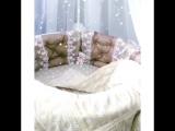 Круглая трансформер-кроватка 6 в 1