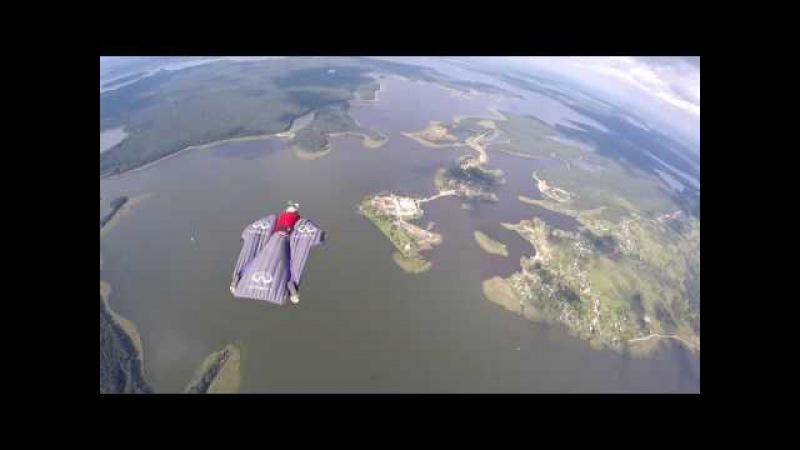 Wingsuit skybase.православные святыни.Нилова пустынь на Селигере