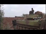 Syrian army forces respond to attack armed groups of Manshia in Daraa