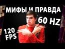 МИФЫ И ПРАВДА О FPS КАДРЫ В СЕКУНДУ. 120 FPS НА 60 Hz МОНИТОРЕ ИМЕЮТ СМЫСЛ