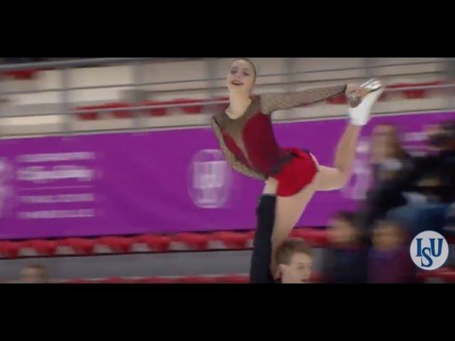 2016 ISU Junior Grand Prix Final - Marseille - Pairs Short Program - BOIKOVA / KOZLOVSKII RUS
