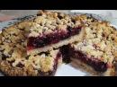 Пирог с ягодами рассыпчатый постный безумно вкусный Cake with berries lean