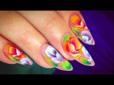For Valentine's Day! Best 14 Nail Art Roses TUTORIALS  Compilaci