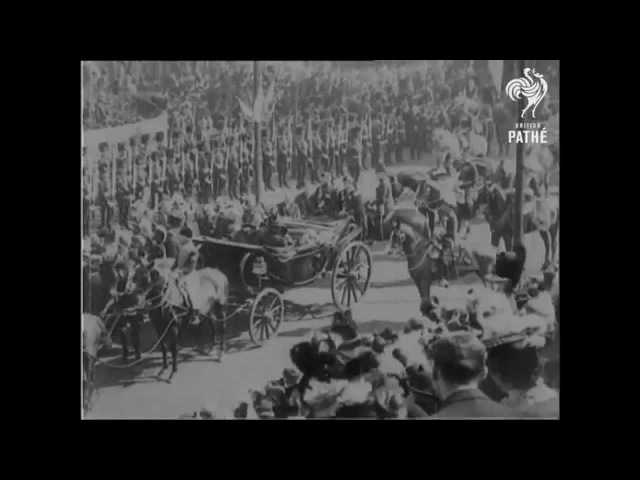 Queen Victoria In Dublin (Rare Footage From 1900) | British Pathé
