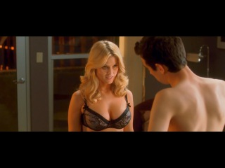 Alice Eve Gigantic Tits and Super Tight Body in Black Underwear from She's Out of My League 1080p
