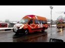 Открытия ёлки в городе Полоцке.Колонна из машин.