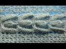 Узор с пышными столбиками Вязание крючком 84