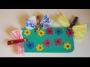 Поляна со стрекозами. Весенние поделки для детей. Аппликации из цветной бумаги.