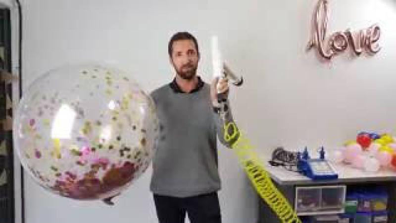 3ft balloon confetti applicator