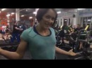 Юлия Зауголова - присед 130х2, 15 раундов каждые 60 секунд