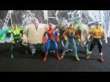 Человек-Паук 1994. Вторая волна. Распаковка и обзор фигурок (игрушек) фирмы Toy Biz. Ма ...