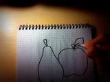 Нарисовать яблоко, грушу