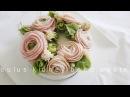 라넌큘러스 앙금플라워떡케익 Ranunculus ♡kidney bean paste flower piping techniques