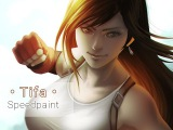 Tifa Lockhart (Final Fantasy VII)  Digital Painting Process Video  Timelapse  Speedpaint