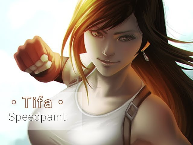 Tifa Lockhart (Final Fantasy VII) • Digital Painting Process Video • Timelapse • Speedpaint