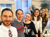 Евгения Степанова, Анастасия Сущик и Рэйчел Териот - в передаче