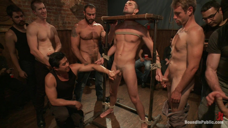 Jake Steel - beaten and thrown in an oily orgy (Spencer Reed, Jake Steel  Cole Streets) #gay #po