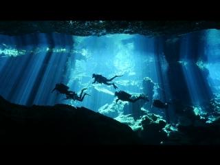 Ныряние в пещерах (сеноте) Мексики.