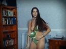 Vintage brunette striptease dance