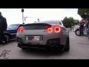 Widebody Nissan GT-R ANTI-LAG sets off Car Alarm