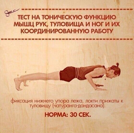 10 упражнений, которые покажут ваши слабые места.  Тело нетренированно