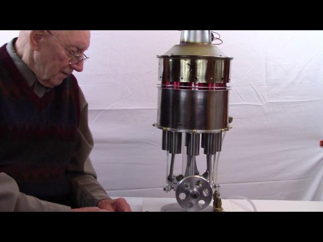 CRAZY 8-CYLINDER STIRLING ENGINE!