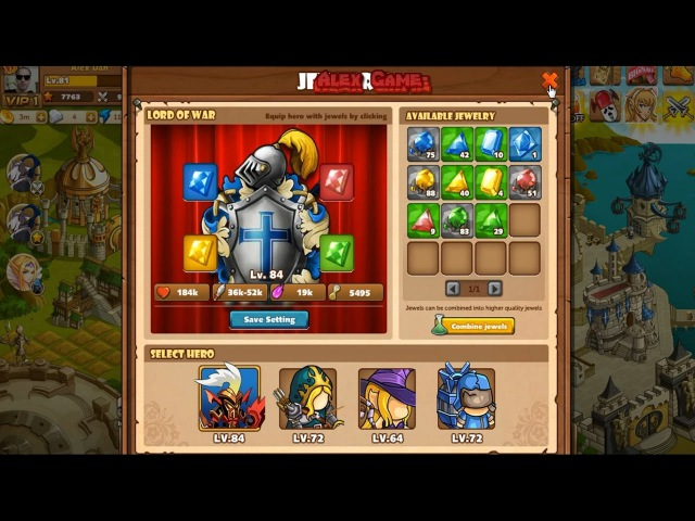 The King of Towers Combine jewels Ruby Lv.7, Citrine Lv.7, Emerald Lv.7 3 million gold (Part 163)