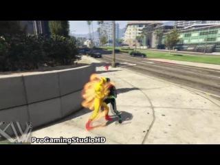 GTA 5 FLASH и желтый, красный, черный флэш-Team! (GTA 5 Модификации Игровой процесс компиляции 60)