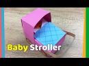 Creative craft for kids DIY Paper Baby Stroller