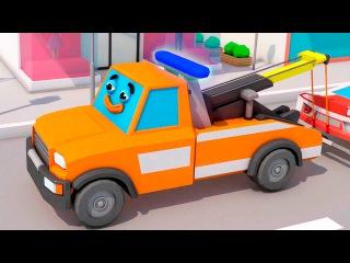 Мультфильм Супер тачки герои помогают в городке машинок Мультики про машинки дл...
