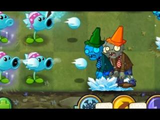 Plants Vs Zombies 2 - Snow Pea Can Sometimes Freeze Zombies ?