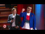 Валерий Карпин, Евгений Савин и Тина Канделаки в Comedy Club (14.04.2017) из сериала Камеди ...