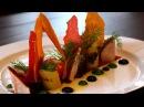 Куриная грудка су-вид с овощным соте. Chicken breast sous-view from the vegetable sauté.
