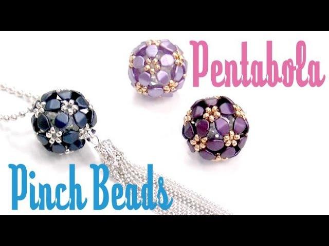 Como hacer una Pentabola con Pinch beads