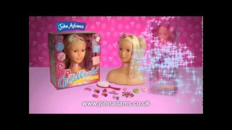 Girl's World - Styling Head Gabriella Style Fashion Doll from John Adams