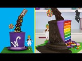 WONKA ILLUSION CAKE - The ULTIMATE Gravity Defying Willy Wonka Candy Cake Радужный