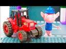 БЕН И ХОЛЛИ. Мультик про Машинки. Автомойка. Трактор. Самосвал. Бензовоз. Спецтра ...