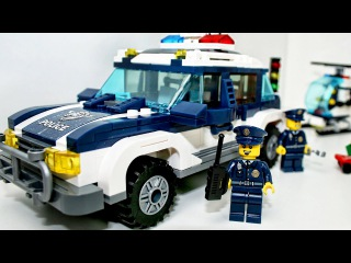 Police Car with Racing Cars - Chase. Cartoons for children about Bank Robbery   Kids Cartoon
