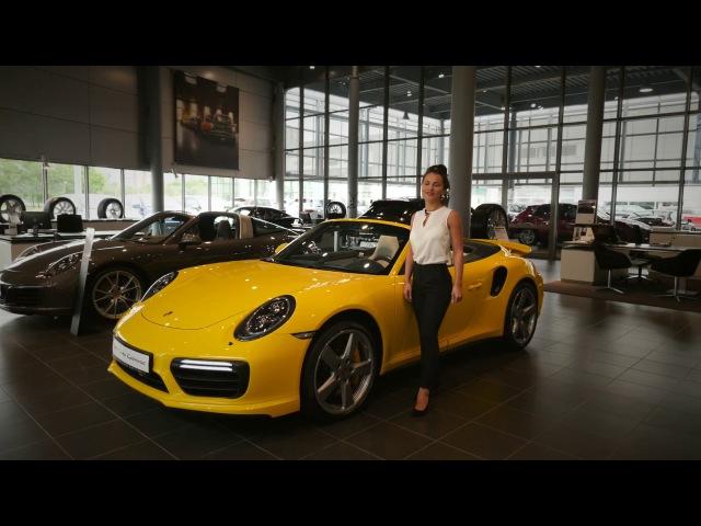 Обзор Porsche 911 Turbo S Cabriolet 2017 Racing Yellow