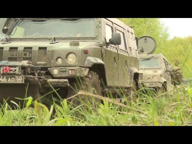Учение разведподразделения ВДВ с применением бронеавтомобиля Рысь