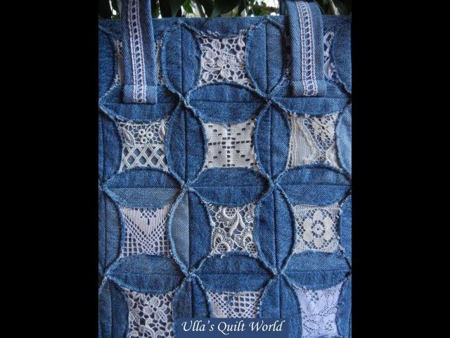 текстильные сумки в технике кафедральные окна